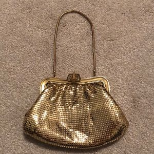 Small Gold Evening Clutch Purse